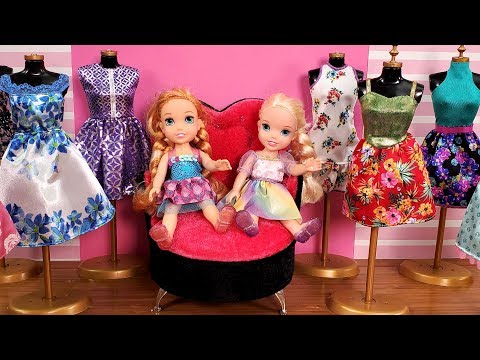 Mall ! Elsa and Anna toddlers go shopping