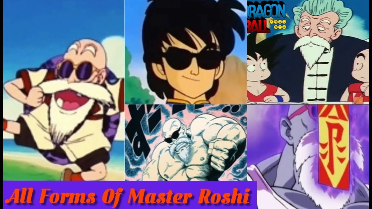 Evolution Of Master Roshi With All Forms And Transformations Db Dbz Dbs Dbgt Youtube
