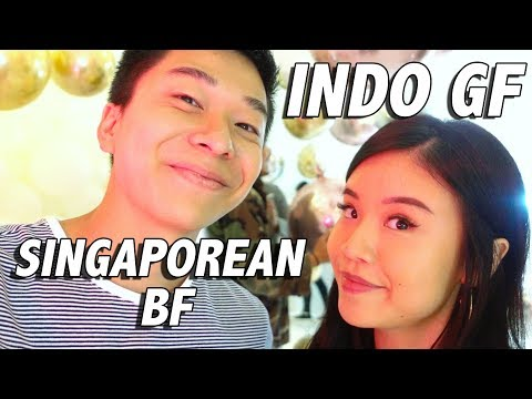 COUPLE SPEAKS CHINESE FOR 24 HOURS - Indo GF & Singaporean BF