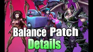 HOTS Balance Update! Heroes of the Storm Patch Notes! Kerrigan Nerf! Morales Buff? Mal