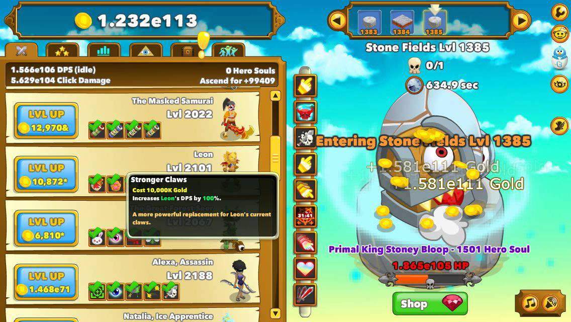 Clicker Heroes Mobile - Regilding & Clans Gameplay - YouTube