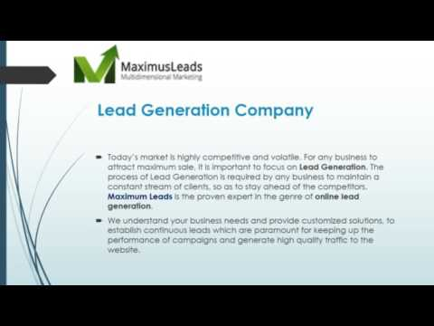 Lead Generation Service Company Pune | MaximusLeads