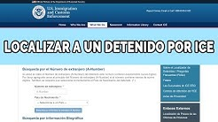 ¿Cómo encontrar a un familiar detenido por ICE?