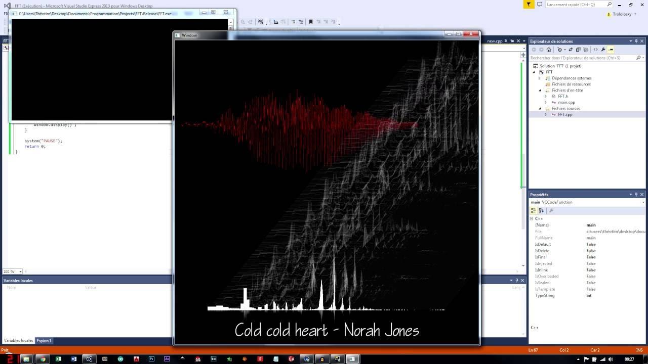 Audio Spectrum FFT (C++/SFML)