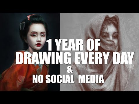1 Year Of DRAWING & PAINTING Every Day | 10 000 DRAWINGS | TOUGH LESSONS On IMPROVEMENT