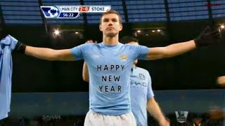 Edin Dzeko was a beast at Manchester City...