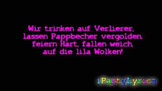 Marteria, Yasha & Miss Platnum - Lila Wolken [ Official Lyrics Video ] [HD/HQ]
