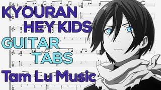 Noragami Aragoto - Kyouran Hey Kids (Opening) [Guitar Tutorial] by Tam Lu Music