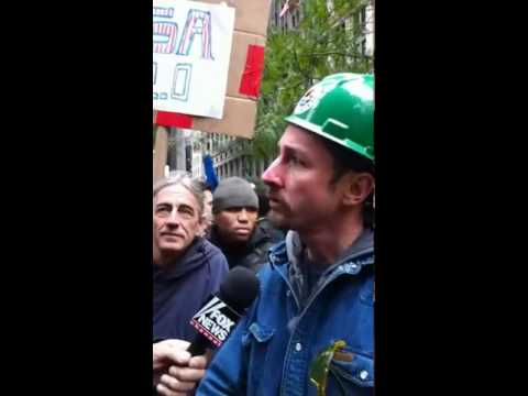 Occupy Wall Street worker interviewed in Zuccotti Park (NY), October 21, 2011