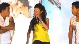 "Indian Rap Artist "" Hard Kaur "" performs on the music launch of "" Babloo Happy Hai"""
