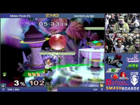 KJH vs EMG Blitz   The Come Up   SSBM Pools