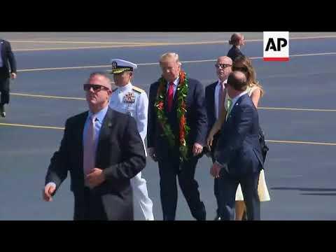 Trump arrives in Honolulu