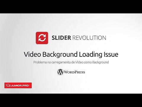 Corrigir Problema Video Background Slider Revolution Não Funcinona | WordPress | Junior Cammel