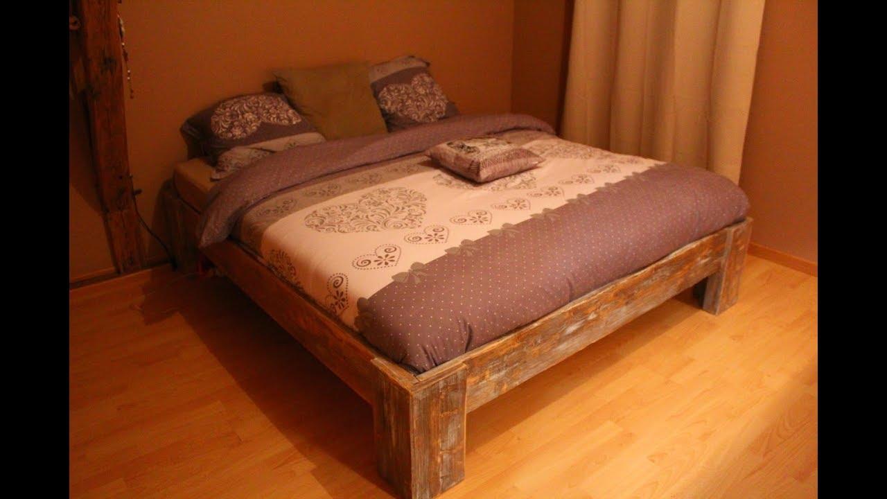 Lit Poutre Bois Massif fabrication d'un lit en 180 x 200 - partie 2/4