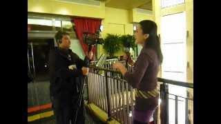 アカデミー賞前日に見かけた、アジアンビューティーなアナウンサーさん。