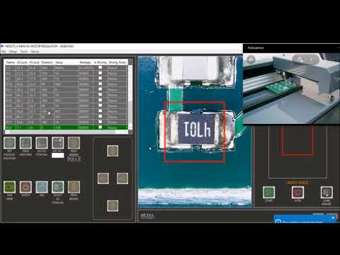 Electronic card Optical Inspection with SMDVISIO in Live View mode - part #2