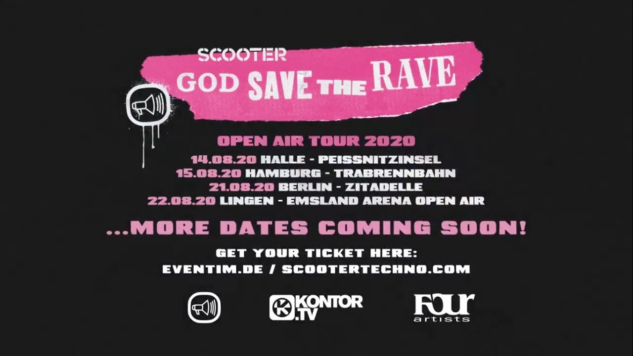 Pink Tour 2020.Scooter God Save The Rave Open Air Tour 2020 Trailer