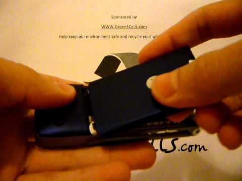 How to put on Motorola K1 Krzr battery cover