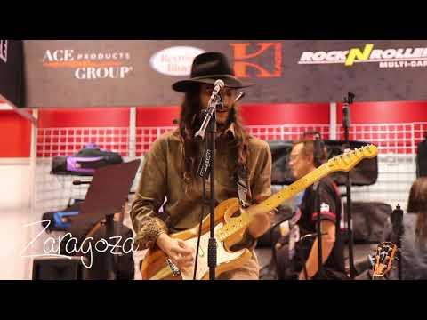 Zaragoza at NAMM 2020 Reunion Blues booth