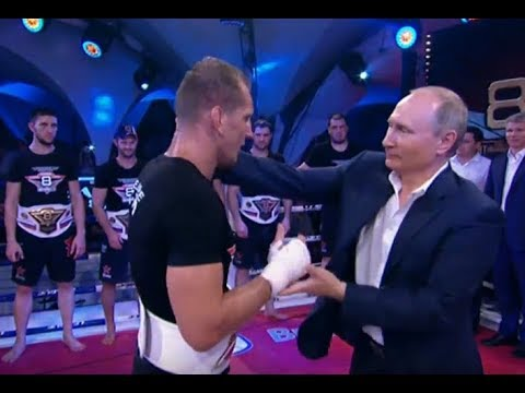 "Putin Attends ""Russian UFC"" (Sambo Plotforma) Tournament in Sochi, Russia [SUBS]"