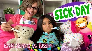 Sick Day - Expectations Vs Reality : The Evangeline Show // GEM Sisters