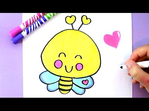 Wie Zeichnet Man Eine Niedliche Biene Eine Liebe Biene Selber
