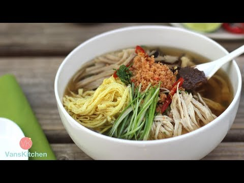 BÚN THANG - Hanoi chicken combo noodle soup (Instant Pot Recipe)