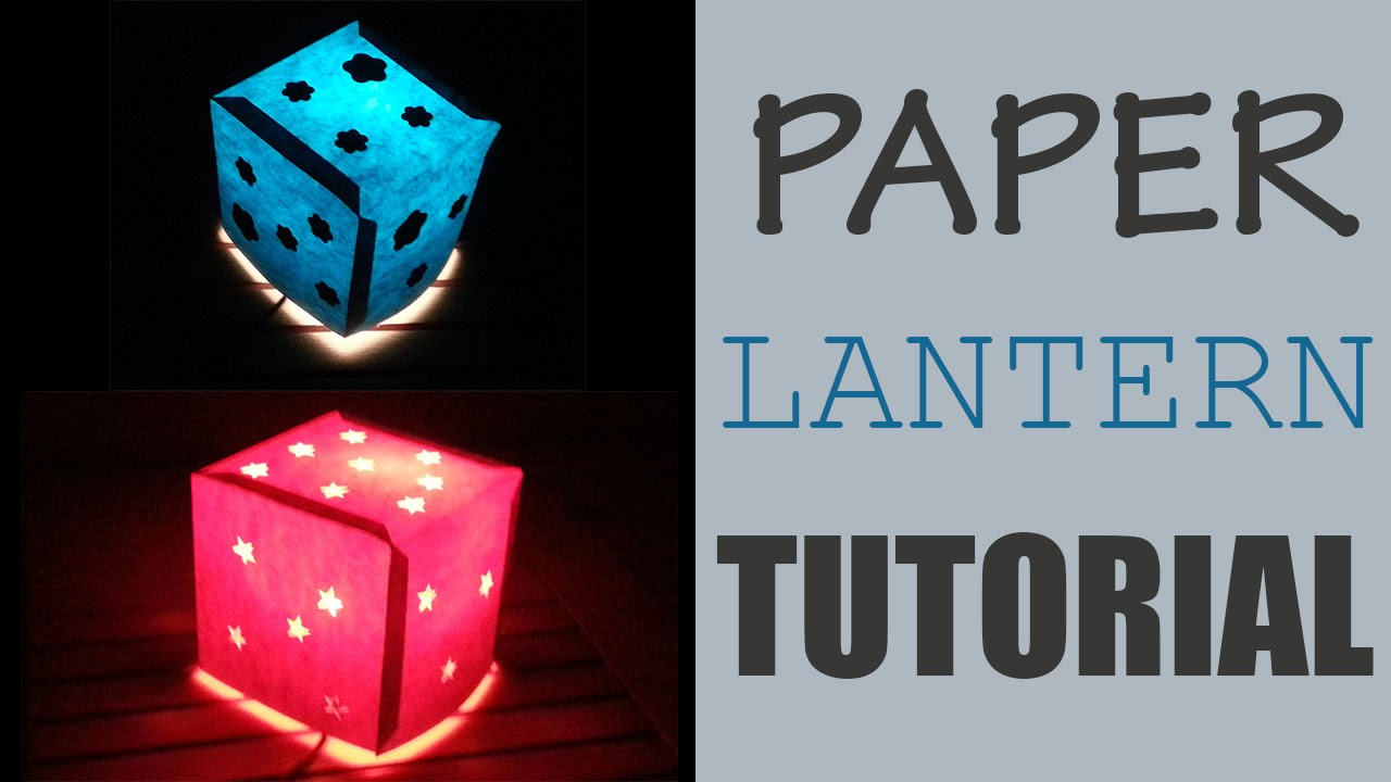 paper lantern tutorial with free template youtube