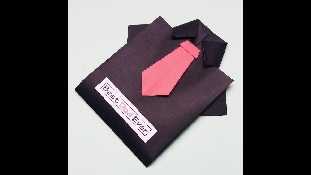 DIY Father's Day Shirt and Tie Cards | Father's Day Greeting Cards Latest Design Handmade | #Shorts