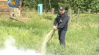 Тушение пожаров на селе (навыки работы с мотопомпой)