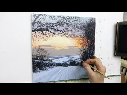 54 How To Paint A Winter Landscape Oil Painting Tutorial Youtube