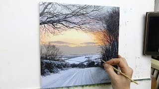 #57 HOW TO PAINT A SNOWY ROAD | Oil Painting | Michael James Smith