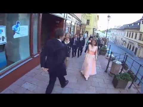 I'm HAPPY, wedding walking through Banská Štiavnica (Slovakia)