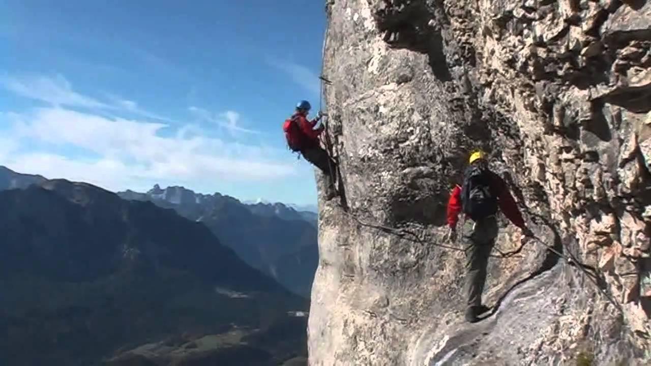 Klettersteig Loser : Loser klettersteig youtube
