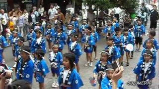 第32回一番町三社まつり 東二番丁小学校すずめ踊り