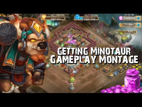 Castle Clash Getting Minotaur And Montage!