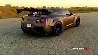 BADASS Nissan GT-R R35 Liberty Walk w ARMYTRIX Performance Exhaust! Revs &amp LAUNCH!