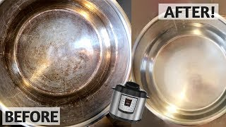 INSTANT POT CLEANING HACKS! tips for cleaning Instant Pot