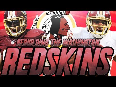 Rebuilding The Washington Redskins | Madden 18 Connected Franchise Rebuild | Crazy Draft Class