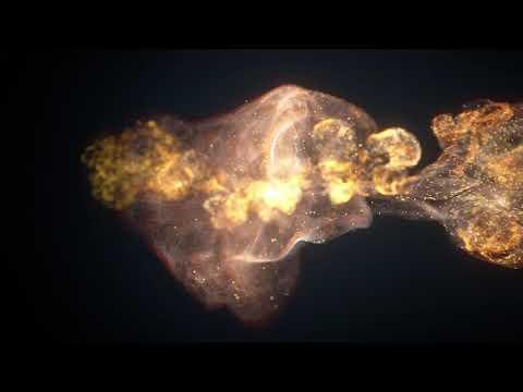 Футаж цветной дым пыль #46 с золотистыми частицами   интро без текста с музыкой