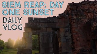 SIEM REAP: First Day! AMAZING Temple Sunset In Cambodia