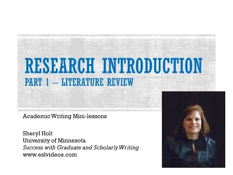 Research Paper Introduction Part 1 literature review