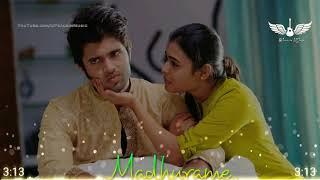 Madhurame  8D Audio Song  Arjun Reddy  Bass Boosted  Telugu 8D Songs
