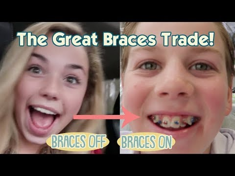 THE GREAT BRACES TRADE: KATIE GIVES HER BRACES TO RYAN!