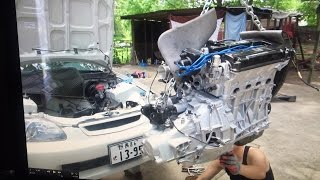 TYPE R Supercharged EK CIVIC REBUILD HSG EP. 4-11