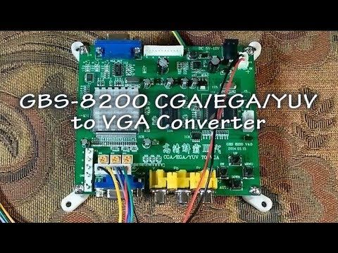 Gbs 8200 Video Converter Cga Ega Yuv Rgb To Vga Youtube
