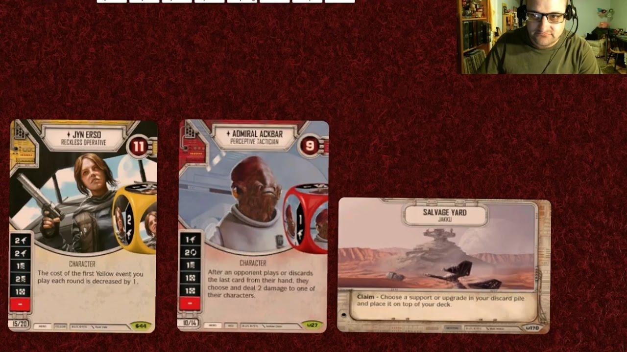 Star Wars Destiny Awakenings  Rare x2  #27 admiral Ackbar