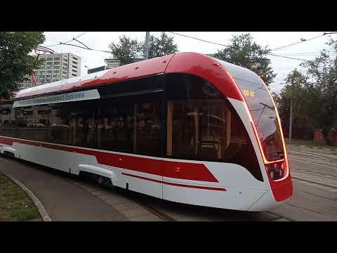 #парадтрамваев трамвай Львёнок 71911Ем полный обзор трамвая