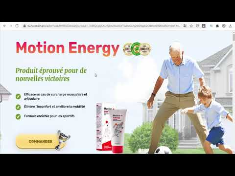 Motion Energy France - Motion Energy is a warming balm for muscles and joints