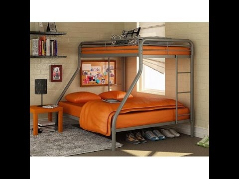 Dorel TwinOverFull Metal Bunk Bed Multiple Colors YouTube